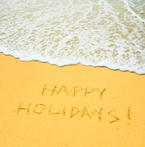 happy holidays beach website
